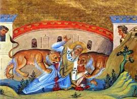 St. Ignatius devoured by lions