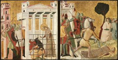 Saint Columba Saved by a Bear and the Martyrdom of Saint Columba