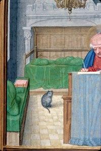 St. Matthew writing his Gospel