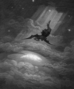 Lucifer's fall from Heaven in John Milton's epic poem Paradise Lost, illustrated by Gustave Doré (1866)