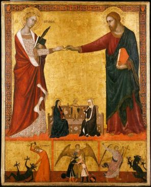 Saint Catherine marriage to Jesus