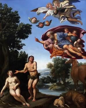 Adam and Eve by Domenichino 1623