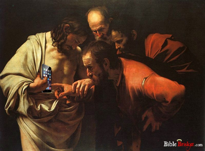 doubting thomas iphone with logo